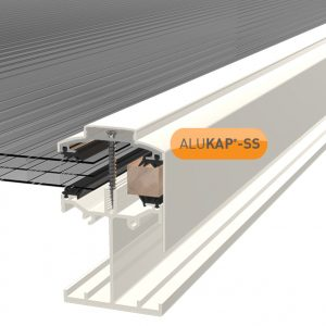 ALUKAP-SS LOW PROFILE GABLE BAR WHITE V1.01